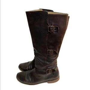 Frye 77066 Paige buckle brown leather boots size 8